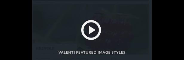 Valenti Parallax Featured Image Video demo
