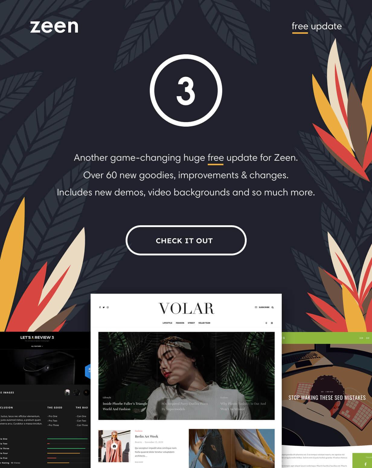 Zeen WordPress Magazine Theme Introduction