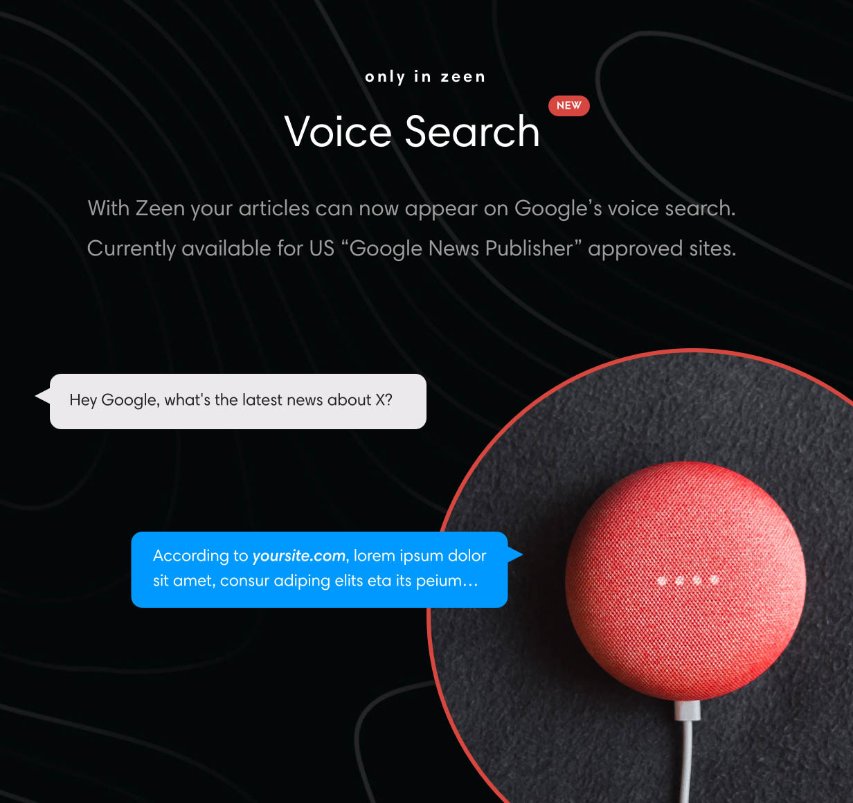 Theme with Voice Search