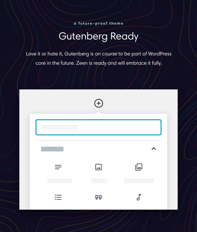 Gutenberg Ready WordPress theme